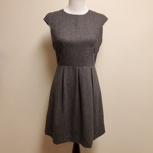 Esley Anthro Gray Wool Blend A-Line Work Dress M